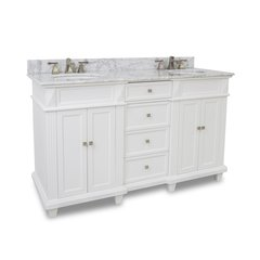 """60"""" Douglas Double Sink Bathroom Vanity - White"""