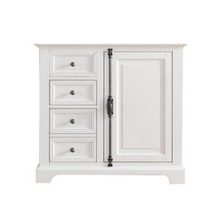 "36"" Providence Single Cabinet only w/o Top - Cottage White"