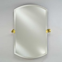 "Radiance Tilt Traditional 16"" Double Arch Top Mirror - Brass"