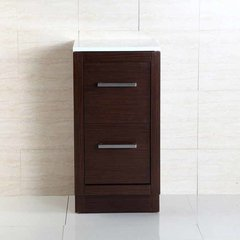"15"" Floor Cabinet - Wenge/White Top"