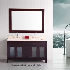 "60"" Venetian Double Sink Bathroom Vanity - Espresso"