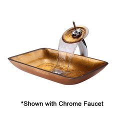 "22"" Golden Pearl Vessel w/ Faucet-Multicolor/Oil Rub Bronze"
