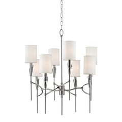 Tate 8 Light Chandelier - Polished Nickel