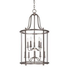 Mansfield 10 Light Island Pendant - Antique Nickel