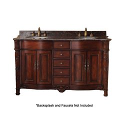 "60"" Classico Double Sink Bathroom Vanity - Cherry"