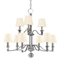 Charlotte 9 Light Chandelier - Polished Nickel