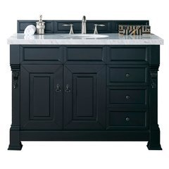 "48"" Brookfield Single Sink Vanity w/ Solid Surface Top - Antique Black"