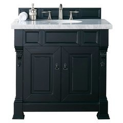 "36"" Brookfield Single Sink Vanity w/ Quartz Top - Antique Black"