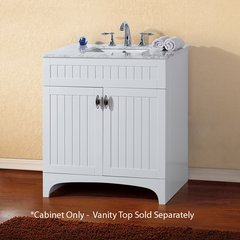 "31"" Single Sink Cabinet Only w/o Top - White"
