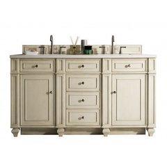 "60"" Bristol Double Sink Vanity w/ Marble Top - Vintage Vanilla"