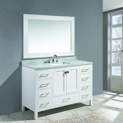 """54"""" London Single Sink Bathroom Vanity - White"""