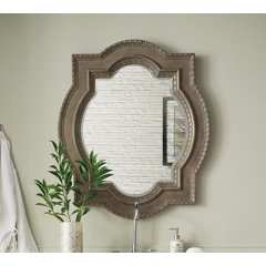 "41"" X 35"" Castilian Double Arch Mirror - Empire Gray"