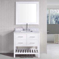 """36"""" London Single Sink Bathroom Vanity - White"""
