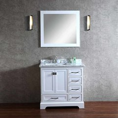 "36"" Chanel Single Vanity - White/Carrara White Top"