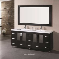 "72"" Stanton Double Sink Bathroom Vanity - Espresso"