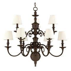 Charleston 9 Light Chandelier - Old Bronze