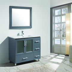 "40"" Stanton Single Sink Bathroom Vanity - Gray"