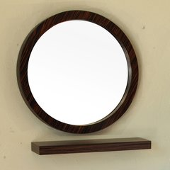 "21"" x 21"" Wall Mount Mirror - Ebony/Zebra"