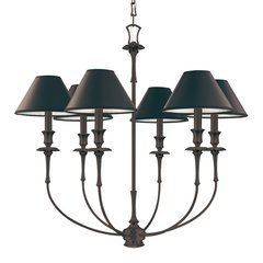Jasper 6 Light Chandelier - Old Bronze