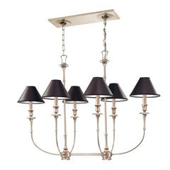 Jasper 6 Light Island Chandelier - Antique Nickel