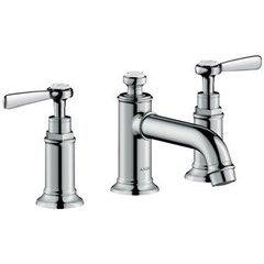 Montreux Widespread Faucet with Lever Handles, Low Spout - Chrome