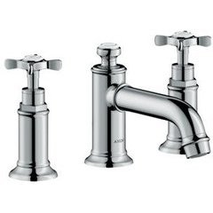 Montreux Widespread Faucet with Cross Handles, Low Spout - Chrome