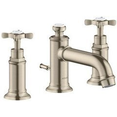 Montreux Widespread Faucet with Cross Handles, Low Spout - Brushed Nickel