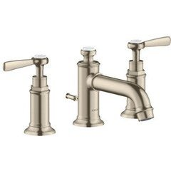 Montreux Widespread Faucet with Lever Handles, Low Spout - Brushed Nickel
