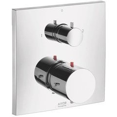 Starck X Thermostatic Trim with Volume Control and Diverter - Chrome