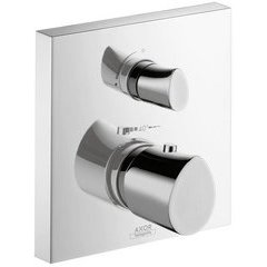 Starck Organic Thermostatic Trim with Volume Control and Diverter - Chrome