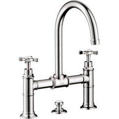 Montreux Widespread Faucet with Cross Handles, Bridge Model - Chrome