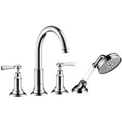 Montreux 4-Hole Roman Tub Set Trim with Lever Handles, 2.0 GPM - Chrome