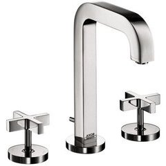 Citterio Widespread Faucet with Cross Handles - Chrome