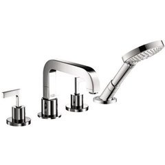 Citterio 4-Hole Roman Tub Set Trim with Lever Handles, 2.0 GPM - Chrome
