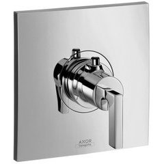 Citterio Thermostatic Trim with Lever Handle, Highflow - Chrome