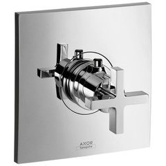 Citterio Thermostatic Trim with Cross Handle, Highflow - Chrome