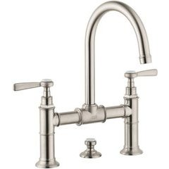 Montreux Widespread Faucet with Lever Handles, Bridge Model - Brushed Nickel