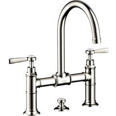 Montreux Widespread Faucet with Lever Handles, Bridge Model - Polished Nickel