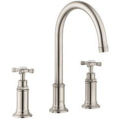 Montreux Widespread Faucet with Cross Handles - Brushed Nickel