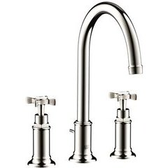 Montreux Widespread Faucet with Cross Handles - Polished Nickel