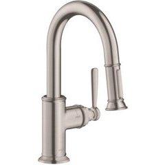 Montreux 2-Spray Prep Kitchen Faucet, Pull-Down - Steel Optik