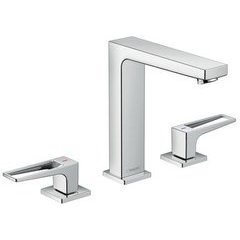 Metropol 160 Widespread Faucet with Loop Handles without Pop-Up - Chrome