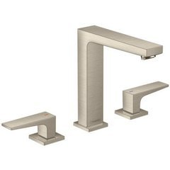 Metropol 160 Widespread Faucet with Lever Handles without Pop-Up -Brushed Nickel