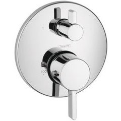 S Thermostatic Trim with Volume Control and Diverter - Chrome