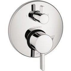 S Pressure Balance Trim with Diverter - Chrome
