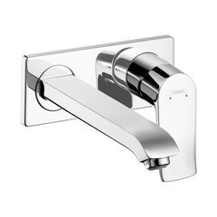 Metris E One-Handle Wall Mount Bathroom Faucet - Chrome