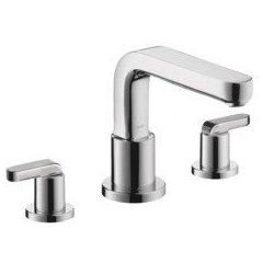 Metris S 3-Hole Roman Tub Set Trim with Lever Handles - Chrome
