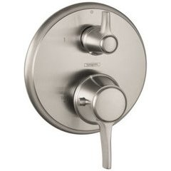 C Thermostatic Trim with Volume Control and Diverter - Brushed Nickel