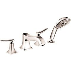 Metris C 4-Hole Roman Tub Set Trim, 2.0 GPM - Polished Nickel