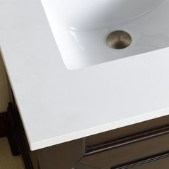 "26"" Single Bowl Vanity Top Only - Sow White Quartz"